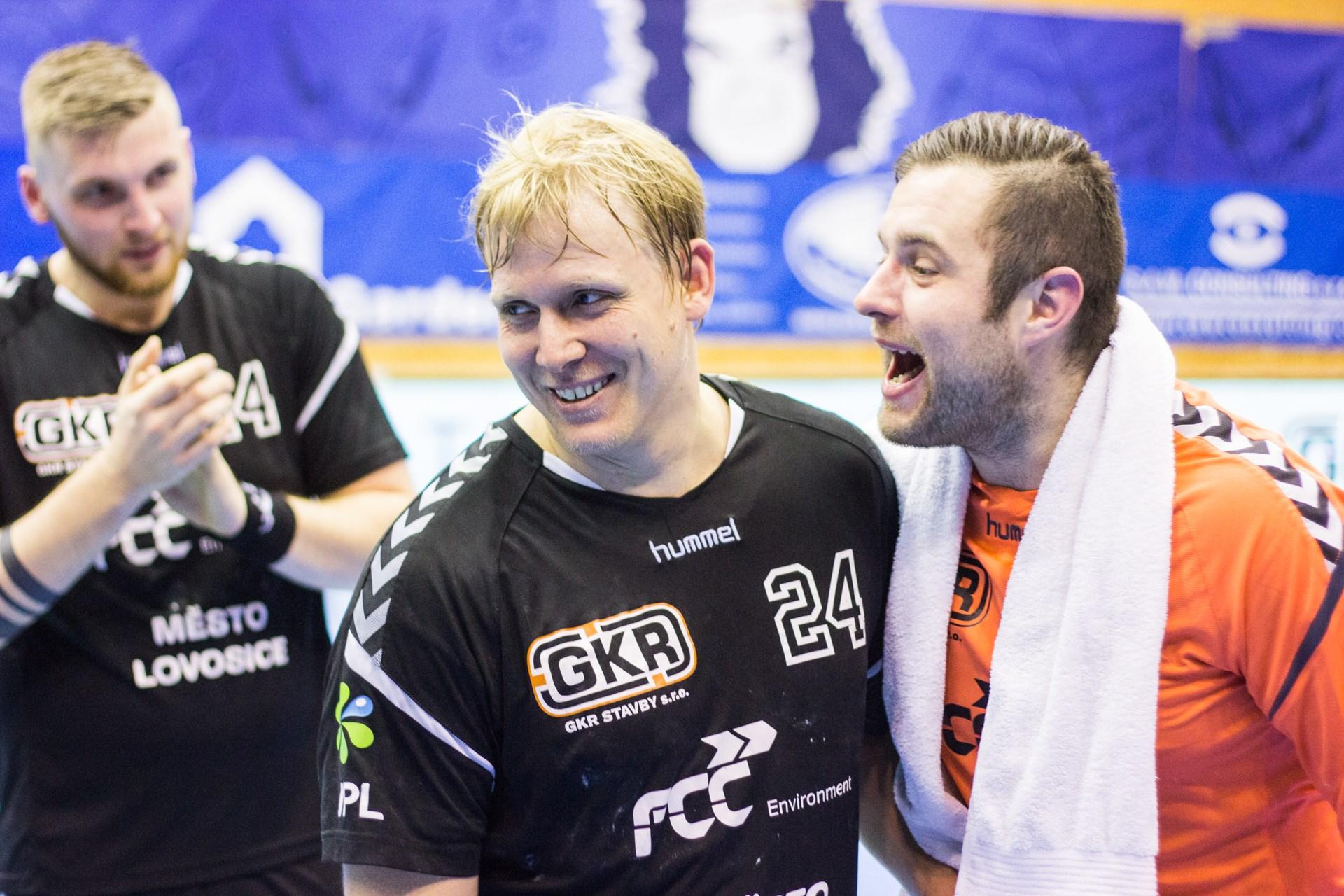 Nejlepším hráčem zápasu byl vyhlášen pivot Jiří Semerád (č. 24).