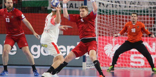Jan Landa v utkání proti Dánsku. Autorka fotografie: Alžběta Vejrostová, ČSH.